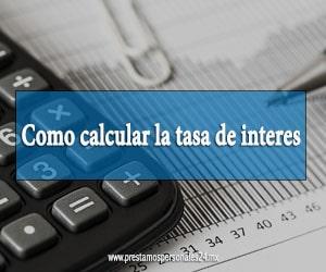 Como calcular la tasa de interes