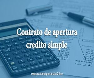Contrato de apertura credito simple
