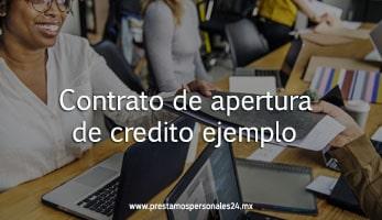 Contrato de apertura de credito ejemplo