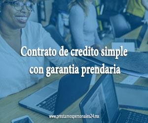 Contrato de credito simple con garantia prendaria