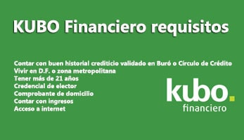 KUBO Financiero requisitos