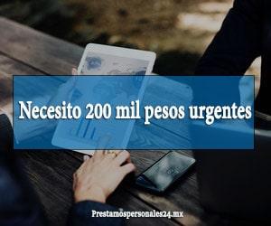 Necesito 200 mil pesos urgentes