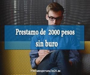 Prestamo de 2000 pesos sin buro