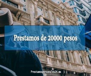 Prestamos de 20000 pesos