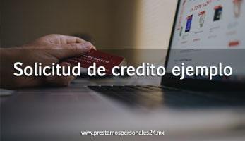 Solicitud de credito ejemplo