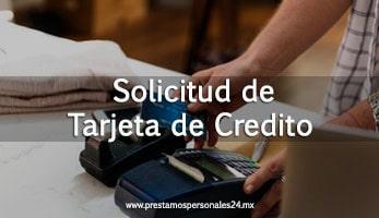 Solicitud de tarjeta de credito